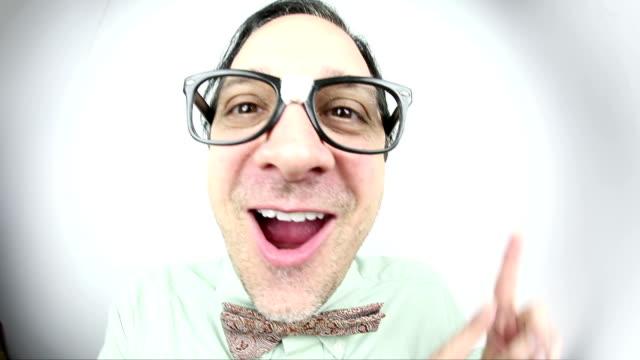 fisheye dancing nerd - nerd stock videos & royalty-free footage