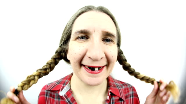 Fisheye Flirty Redneck Woman