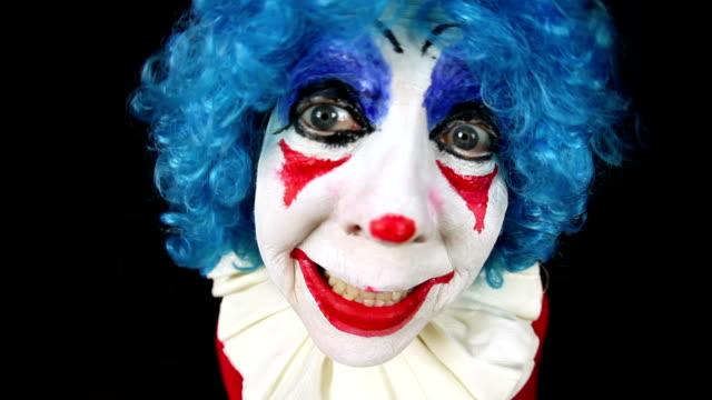 Fisheye lustige Clown-Gesicht