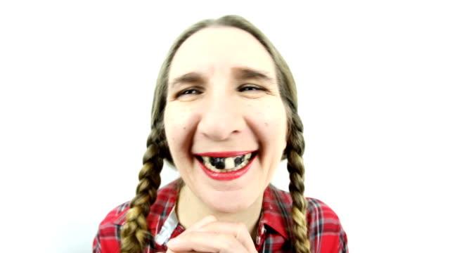 Fisheye Giggling Redneck Girl