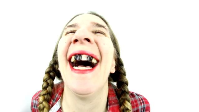 魚眼レンズの田舎者 slomo 笑い - コメディアン点の映像素材/bロール