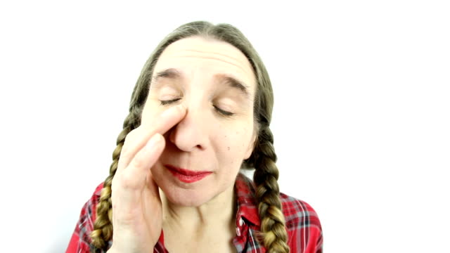 Fisheye Sleepy Redneck Woman