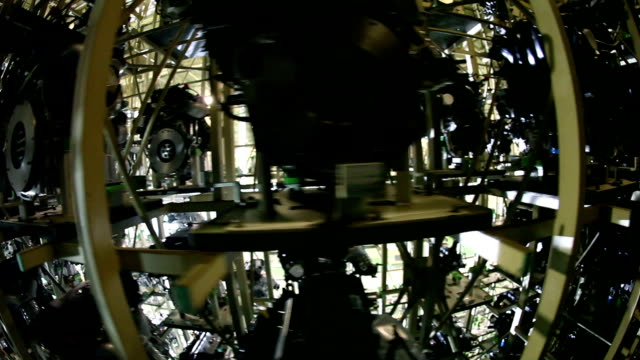 fisheye,car factory,engine - manufacturing machinery stock videos and b-roll footage