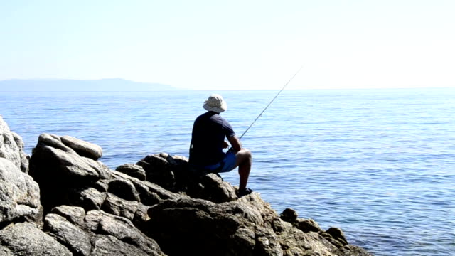 fishing at sea - hook stock videos and b-roll footage