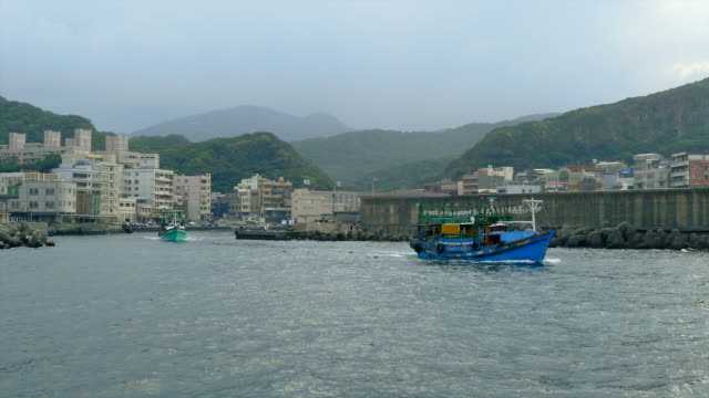 Fishing Boat Leaving Harbor, Yehliu, Taiwan