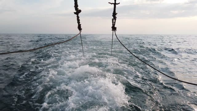 vidéos et rushes de fishing boat on august 10, 2020 in hastings, england. for coastal communities around the uk, the fishing industry is their economic lifeblood,... - bras de mer mer
