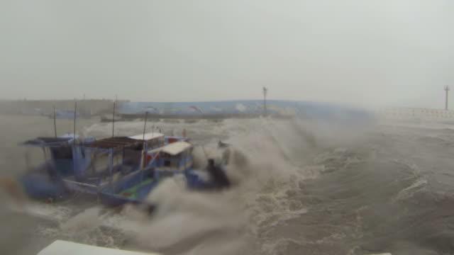 Fishing Boat Sinks In Hurricane Storm Surge