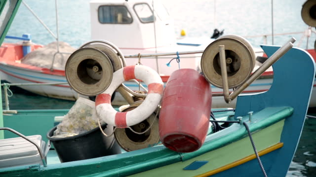 fishing boat. - anchored stock videos & royalty-free footage