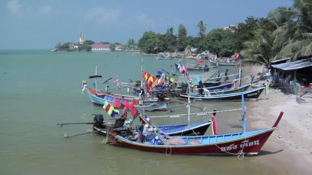 WS Fishing boats at Bang Rak bay / Koh Samui, Thailand