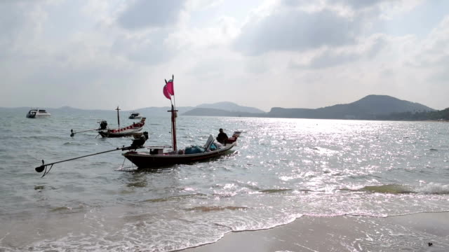 Fishing boats at Bo Phut Beach