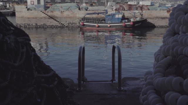 fishing boats at the harbor of vigo - galicia stock videos & royalty-free footage