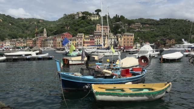Fishing boats in port of Portofino
