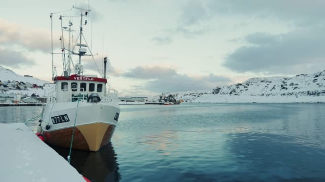 stockvideo's en b-roll-footage met fishing boats in the norwegian arctic sea - activiteit
