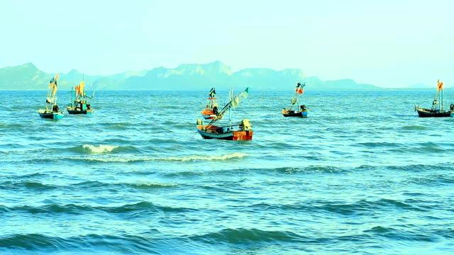 Fishing Boats on sea