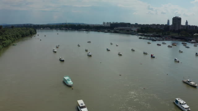 fishing boats on the river - group of objects stock videos & royalty-free footage