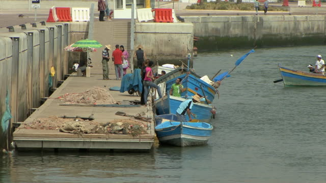 WS Fishing boats returning to dock, Rabat, Morocco