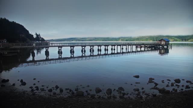 fishing dock in bodega bay - jetty stock videos & royalty-free footage