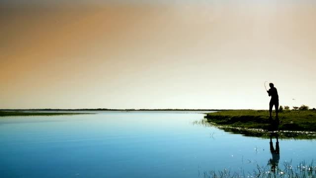 Pesca en laguna del plata de santa fe