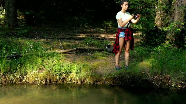 vídeos de stock e filmes b-roll de fishing is practicing mindfulness - outdoor pursuit