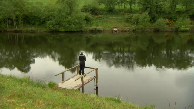 fishing lakes reopened after coronavirus lockdown in belfast - hobbies stock videos & royalty-free footage