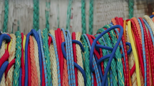 fishing net rope - fishing boat stock videos & royalty-free footage