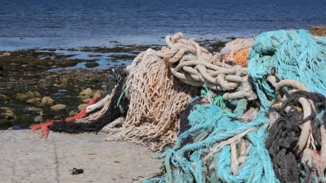 Fishing nets, Old rope at sea - HD & PAL