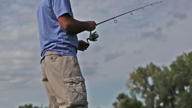 fishing reel - fishing reel stock videos and b-roll footage