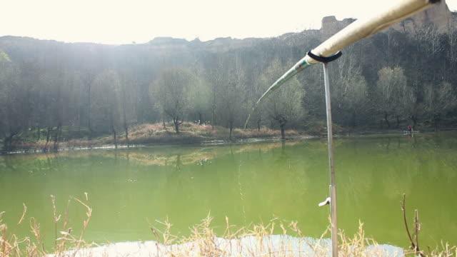 POV Fishing rod and lake/xian,shaanxi,China