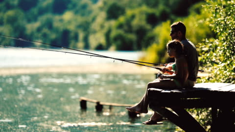 fishing time - leisure activity stock videos & royalty-free footage