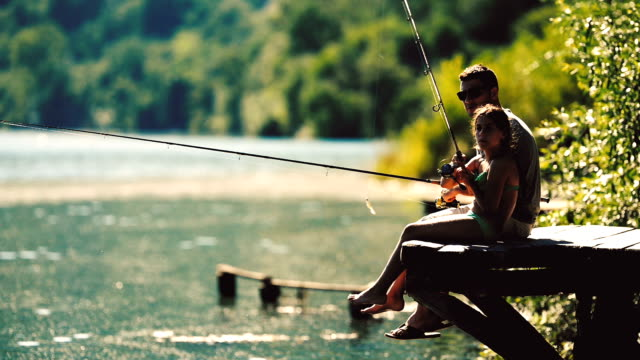 fishing time - pond stock videos & royalty-free footage