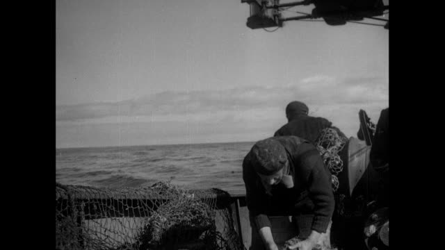 1934 fishing trawler in the north sea - 1934 stock videos & royalty-free footage