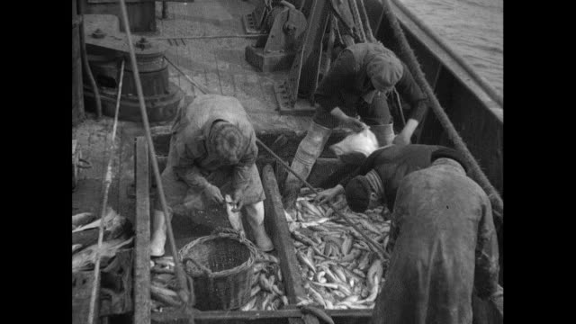 1934 fishing trawler in the north sea - wicker stock videos & royalty-free footage