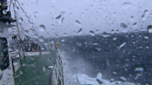 pov fishing trawler on rough ocean, scotland, uk - small boat stock videos & royalty-free footage