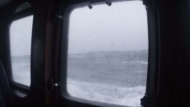 pov fishing trawler on rough ocean, scotland, uk - sailing stock videos & royalty-free footage