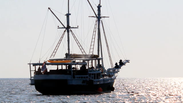 fishing trawler sails into open sea - the hague stock videos and b-roll footage