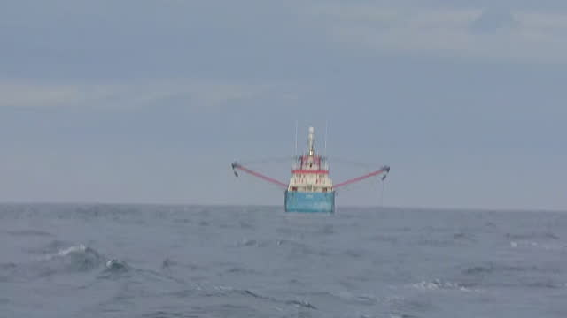 fishing trawlers in english channel - recreational pursuit stock videos & royalty-free footage