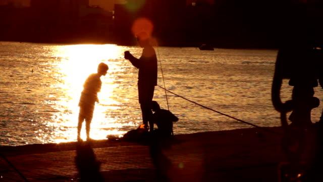 la pesca - historical reenactment video stock e b–roll