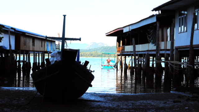 Fishing village and fishing boat.