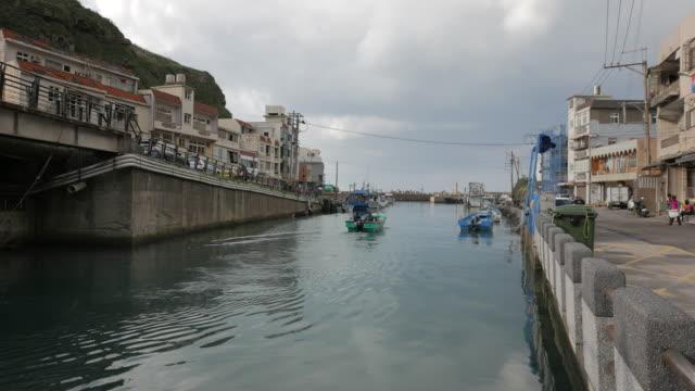 fishing village, northeast coast, taiwan - taiwan stock videos & royalty-free footage
