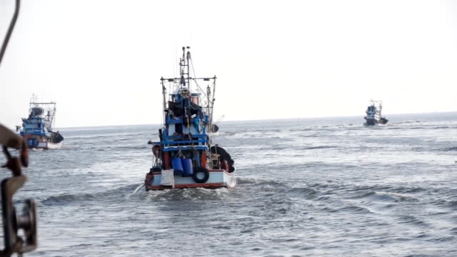 fishingboat - peschereccio video stock e b–roll