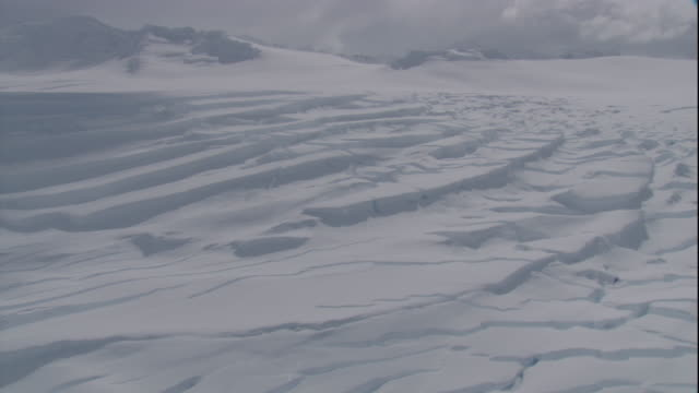 Fissured ice sheet in Antarctica. Available in HD