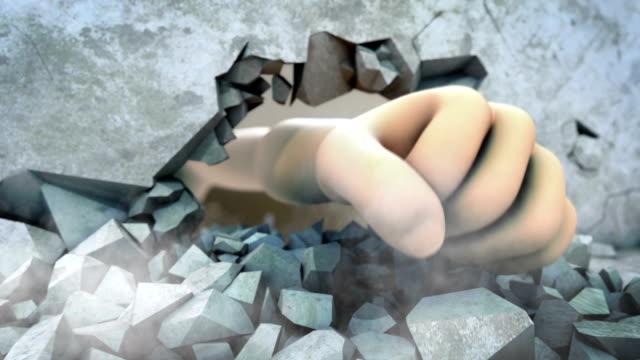 Fist Breaking Wall