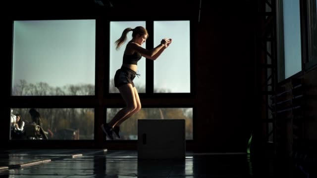 fit woman exercising in the gym - self discipline stock videos & royalty-free footage