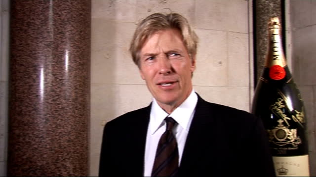 fitflop shooting stars benefit ball in london; jack wagner interview sot - on loving wentworth / on weather / on champagne...not going to bid / too... - offerta d'asta video stock e b–roll