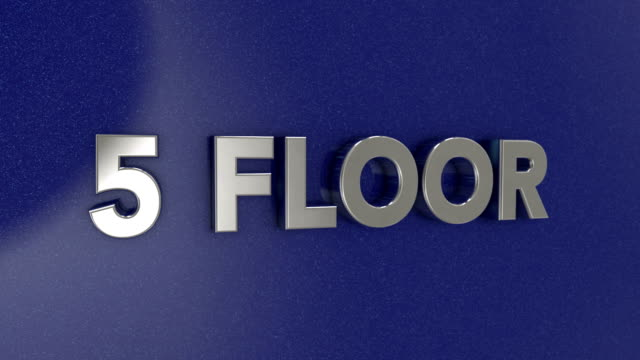 fith floor 3d sign - elevator point of view stock videos and b-roll footage