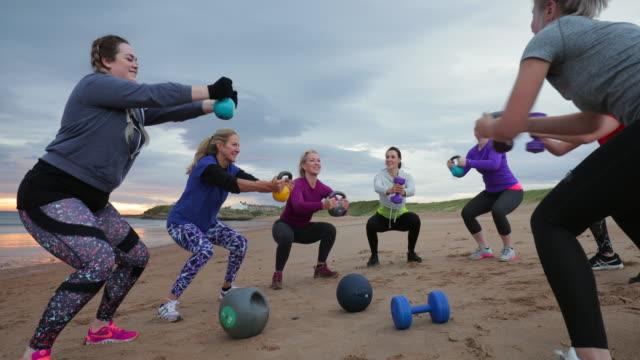 Fitness Class Squats