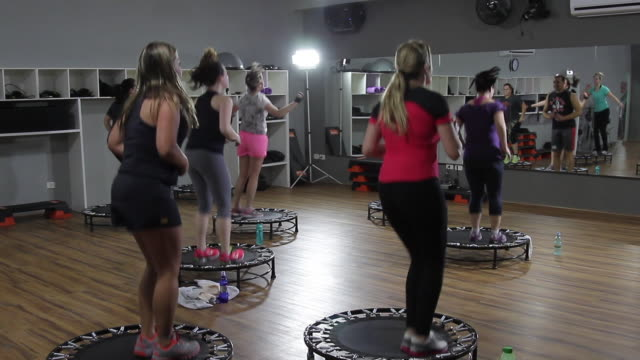 fitness classes - health club stock videos & royalty-free footage