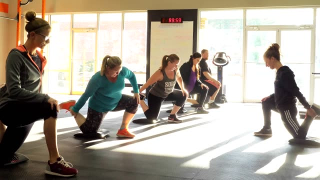 fitness classes - cross training stock videos & royalty-free footage