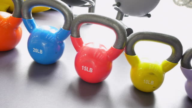 fitness equipment in modern gym