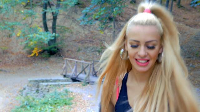 Blonde teen videos Blonde Teen Girl In Woods Videos And Hd Footage Getty Images